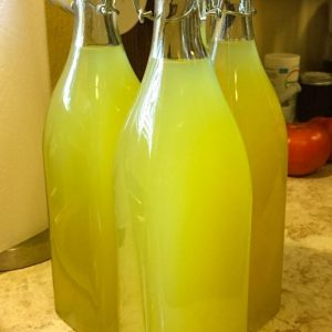 Three Bottles of Homemade Limoncello
